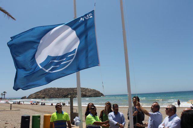 Seis banderas azules certifican la calidad de las playas de Mazarrón, Foto 1