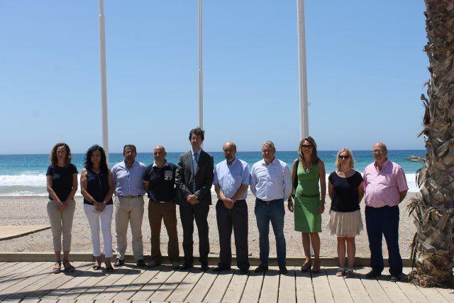 Seis banderas azules certifican la calidad de las playas de Mazarrón, Foto 3