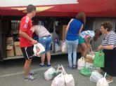 Las parroquias de la sierra de Moratalla recogen alimentos y ropa para Jesús Abandonado