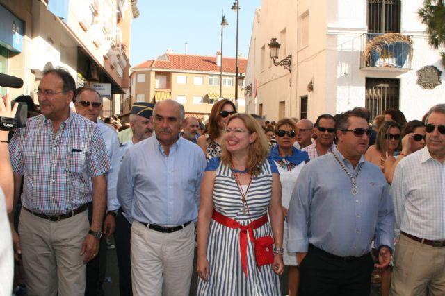 El jefe del Ejecutivo regional, Alberto Garre, asiste a la romería con motivo de la festividad de Nuestra Señora del Carmen - 1, Foto 1