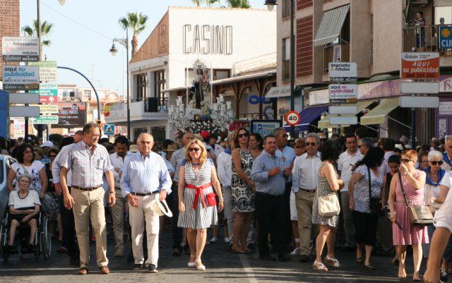El jefe del Ejecutivo regional, Alberto Garre, asiste a la romería con motivo de la festividad de Nuestra Señora del Carmen - 2, Foto 2