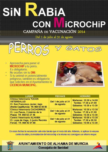 Hasta el 31 de agosto está en marcha la campaña para vacunar a perros y gatos contra la rabia, Foto 1