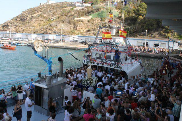 Procesión Virgen del Carmen Puerto de Mazarrón, Foto 1