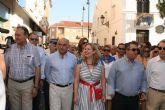 El jefe del Ejecutivo regional, Alberto Garre, asiste a la romería con motivo de la festividad de Nuestra Señora del Carmen