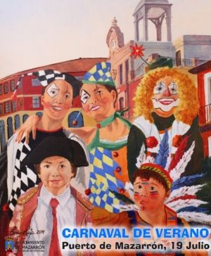 El carnaval de verano llena hoy de color el paseo marítimo de Puerto de Mazarrón, Foto 1