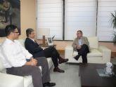 El consejero de Fomento, Obras Públicas y Ordenación del Territorio se reúne con el alcalde de Alguazas