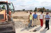 Comienzan las obras de construcción de una nueva rotonda en la carretera RM-D16 que une Puerto Lumbreras con La Estación- Esparragal