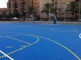 Finalizan las obras en las pistas de baloncesto del Polideportivo de La Vega