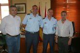 Despedida oficial con el alcalde de Alcantarilla del Jefe del Escuadrón de Zapapadores Paracaidistas (EZAPAC)