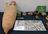 La Guardia Civil recupera cerca de 400 piezas arqueológicas sustraídas en Caravaca de la Cruz