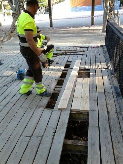 Medio Ambiente continúa con sus trabajos de mantenimiento y mejora de espacios verdes en los barrios y pedanías de Murcia - 3, Foto 3