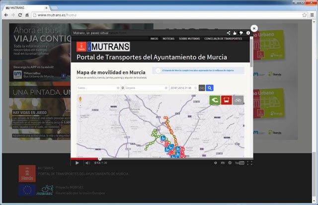 La startup murciana Conocea realiza los vídeos para formar a los ciudadanos en la nueva plataforma del Ayuntamiento de Murcia MUTRANS - 1, Foto 1