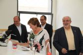 El consejero de Educación y la alcaldesa visitan el nuevo Campus de la UCAM en Cartagena