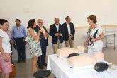 El consejero de Educación visita las obras del nuevo campus de la Ucam en Cartagena