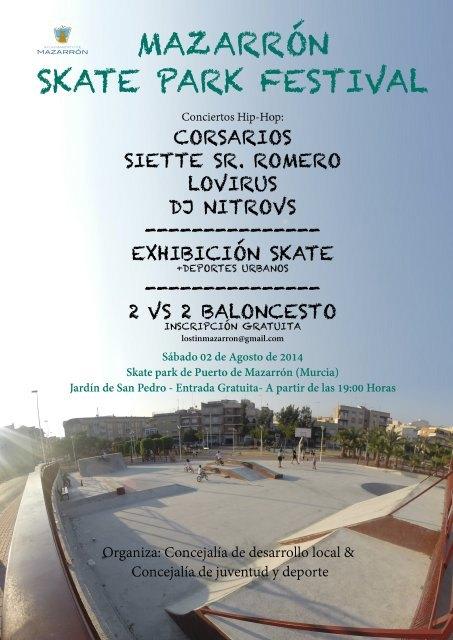 El jardín de San Pedro de Puerto de Mazarrón acoge este sábado el primer festival de Skate-Park - 2, Foto 2