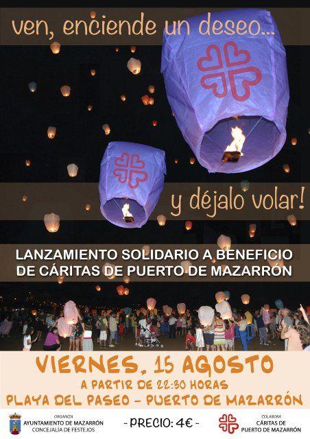 Cáritas oganiza la segunda edición del lanzamiento solidario de farolillos, Foto 1