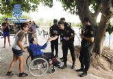 Policía Nacional y la Asociación Pro-Discapacitados AMIFP juntos en una exhibición canina
