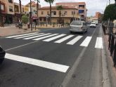 El Ayuntamiento torreño aprovecha agosto para repintar la señalización horizontal de tráfico en varias calles locales
