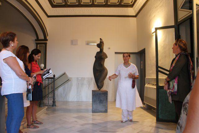 Lola Arcas muestra sus fuentes de inspiración en su exposición de las Casas Consistoriales, Foto 1