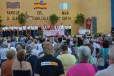 Multitudinaria misa en honor al Cristo del Mar Menor