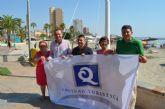 Las tres nuevas banderas con la 'Q' de Calidad Turística ya ondean en las playas