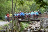 Los miembros de la asociación 'Los Peregrinos' torreña visitaron Asturias