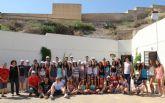 Más de 300 jóvenes de campamentos y escuelas de verano conocen los productos turísticos de Puerto Lumbreras