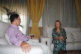 El delegado del Gobierno recibe a Josefa Marín, nueva alcaldesa de Torre Pacheco