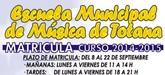 El plazo de matrícula para el curso 2014-2015 de la Escuela Municipal de Música de Totana se abre el próximo 8 de septiembre