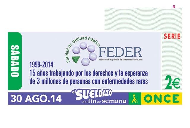 La ONCE dedica su cupón a la labor de la Federación Española de Enfermedades Raras (FEDER)