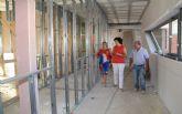 Continúan las obras de la nueva guardería pública junto al colegio Asunción Jordán con la que se habilitará un centro de educación infantil junto a cada uno de los 4 colegios del municipio