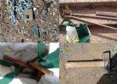 La Guardia Civil detiene in fraganti a una persona mientras robaba media tonelada de objetos declarados BIC en Portmán