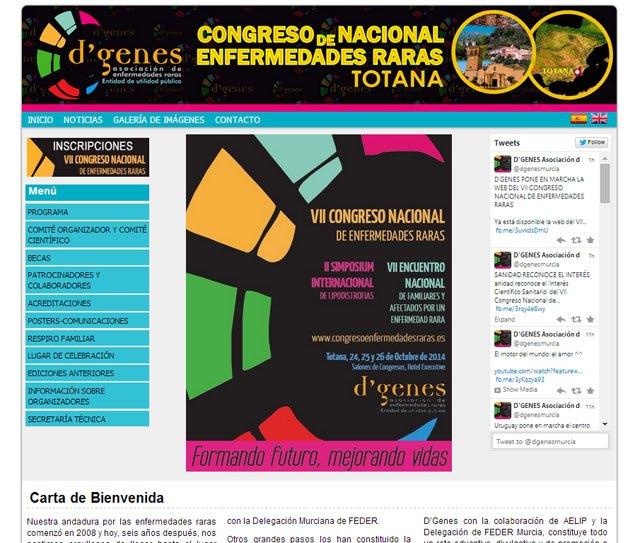 Ya está en marcha la web del VII Congreso Nacional de Enfermedades Raras, Foto 1