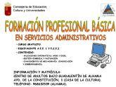 Abierta la matricula para el curso de Formación Profesional Básica en Servicios Administrativos