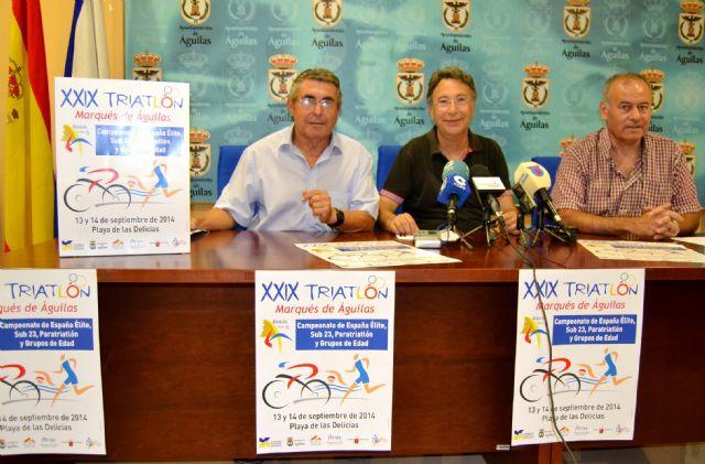 El XXIX Triatlón 'Marqués de �guilas' reunirá a más de 800 atletas de distintos puntos del país - 1, Foto 1
