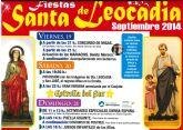 Las fiestas de Santa Leocadia comienzan este viernes 19 de septiembre