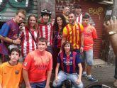 Casi 30 peñistas y aficionados viajan a Barcelona al partido FC Barcelona - Ath. Bilbao