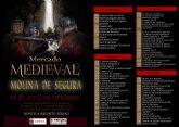El Mercado Medieval de Molina de Segura se celebra del 19 al 22 de septiembre, coincidiendo con las Fiestas Patronales