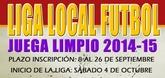 El próximo viernes, día 26, finaliza el plazo para la inscripción de los equipos en la Liga de Fútbol 'Juega Limpio