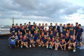 El deportista David Cal visita a los palistas del UCAM AD Pinatarense