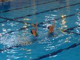 La Exhibici�n de Sincronizada re�ne a 55 nadadoras de Lorca y Alhama de Murcia