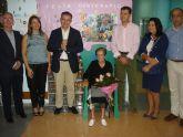 Cumpleaños n�mero 100 de Leonor Vicente Noguera, usuaria de la residencia de personas mayores de Alhama