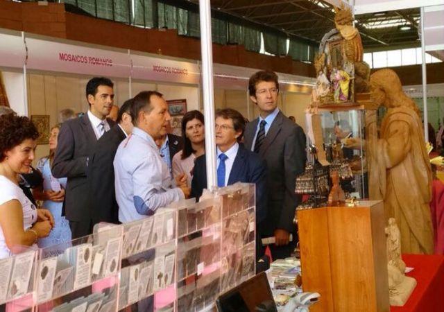 Autoridades municipales asistieron al acto de inauguración de la XXXI Feria de Artesanía de la Región de Murcia