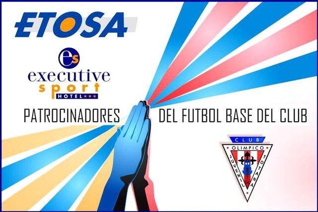 ETOSA y el Hotel Executive Sport patrocinarán el fútbol base del Club Olímpico de Totana