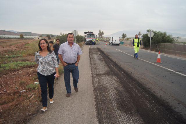 Comienzan las obras de acondicionamiento de la Nacional 340 desde Alhama hasta Lorca