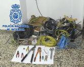 La Policía Nacional detiene a dos personas por veinte delitos de robo de cobre en Yecla