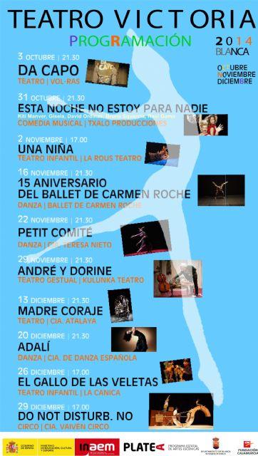El Teatro Victoria programa 12 espectáculos de teatro, danza, música y circo - 2, Foto 2
