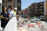 Fomento amplía la red de saneamiento del barrio Alfonso X de Lorca y asume las acometidas de las viviendas al colector principal