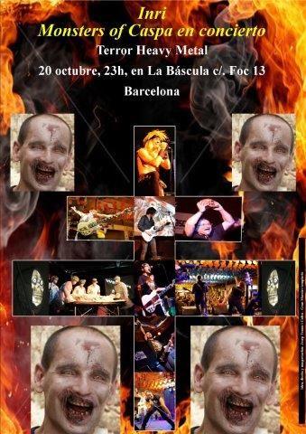 Inspirándose en la Cruz de Caravaca, el Gran Maestre de los Templarios de Jumilla diseña el cartel anuncio del concierto anual Heavy Metal de los Monsters of Caspa - 1, Foto 1