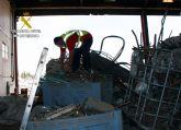 La Guardia Civil recupera en una chatarrería clandestina más de 9.000 kilos de cobre sustraído